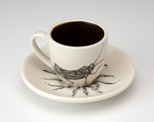 Espresso Cup and Saucer: Grasshopper