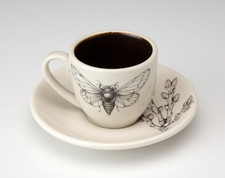 Espresso Cup and Saucer: Cicada