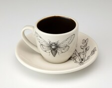 Espresso Cup and Saucer: Cicada