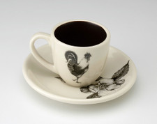 Espresso Cup and Saucer: Rooster