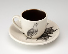 Espresso Cup and Saucer: Partridge