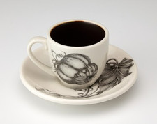 Espresso Cup and Saucer: Turban Squash