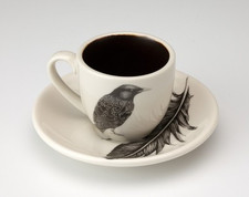 Espresso Cup and Saucer: Starling