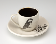 Espresso Cup and Saucer: Black-capped Chickadee