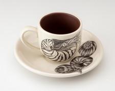Espresso Cup and Saucer: Nautilus