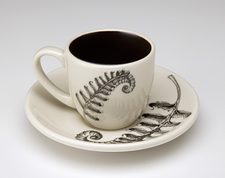 Espresso Cup and Saucer: Sword Fern