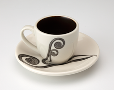Espresso Cup and Saucer: Fiddlehead Fern
