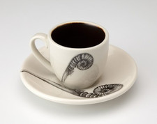 Espresso Cup and Saucer: Coiled Sword Fern