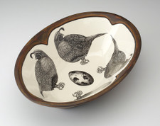 Large Serving Dish: Quail