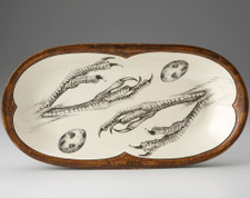 Rectangular Serving Dish: Quail Feet