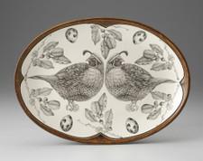Oval Platter: Quail