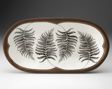 Rectangular Serving Dish: Wood Fern