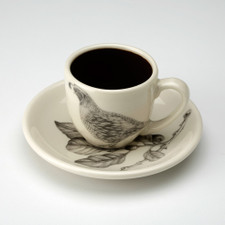 Espresso Cup and Saucer: Quail #1