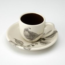 Espresso Cup and Saucer: Quail #4