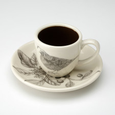 Espresso Cup and Saucer: Quail #2