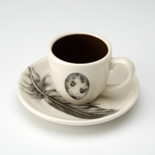 Espresso Cup and Saucer: Quail Egg