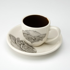Espresso Cup and Saucer: Shelf Mushroom