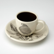 Espresso Cup and Saucer: Quail #3