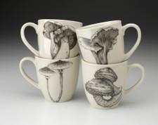 Set of 4 Mugs: Mushrooms