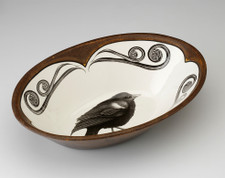 Large Serving Dish: Red-Winged Blackbird