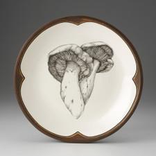 Small Round Platter: Milk Cap Mushroom 1
