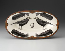 Oblong Serving Dish: Crow