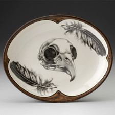 Small Serving Dish: Owl Skull