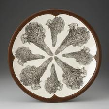 Large Round Platter: Chanterelle Mushroom