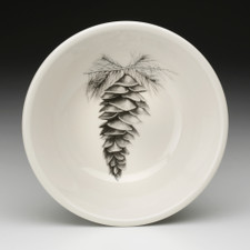 Cereal Bowl: White Pine Cone