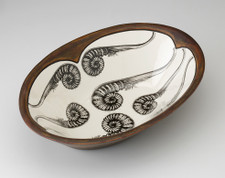 Large Serving Dish: Coiled Sword Fern