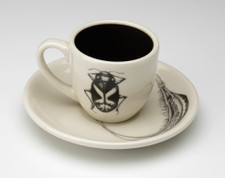 Espresso Cup and Saucer: Beetle #4
