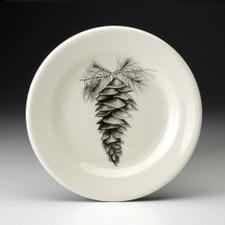 Bread Plate: White Pine Cone