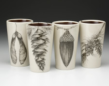 Set of 4 Tumblers: Acorns and Pine Cones