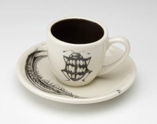 Espresso Cup and Saucer: Beetle #2