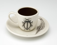 Espresso Cup and Saucer: Beetle #3