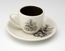 Espresso Cup and Saucer: Pinyon Pine Cone