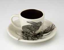 Espresso Cup and Saucer: Crouching Hare