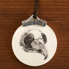 Ornament: Owl Skull