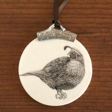 Ornament:  Quail #4