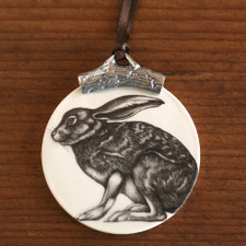Ornament: Crouching Hare