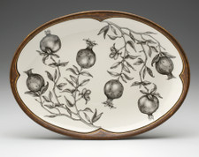 Small Oval Platter: Pomegranate