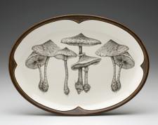 Oval Platter: Parasol Mushroom