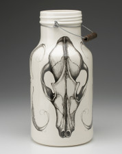 Jug with Handle: Fox Skull