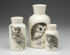 Set of 3 Jars: Owls