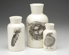 Set of 3 Jars: Quail #3