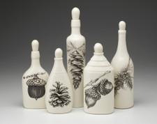Set of 5 Bottles: Acorns & Pine Cones