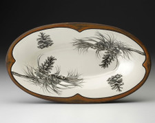 Oblong Serving Dish: Pine Branch
