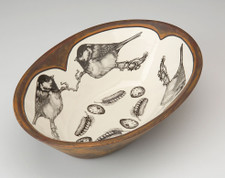 Large Serving Dish: Coal Tit