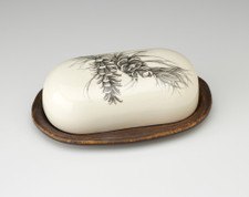 Butter Dish: Pine Branch