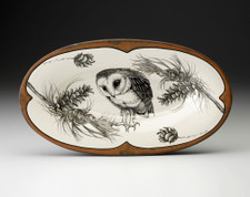 Oblong Serving Dish: Barn Owl